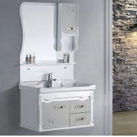 PVC bathroom vanity / wall cabinet / hanging cabinet / walnut color for bathroom Manufactures