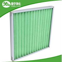 China Covering Wire Pre Air Filter Mini G4 Pleated Panel Filter With Aluminum Frame on sale