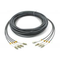 LC - LC Multimode Fiber Patch Cord , 6 Core Gray Armored Patch Cable For FTTH Manufactures