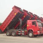 336HP 6x4 Drive Wheel Heavy Duty Dump Truck 31 - 40t Capacity Manufactures
