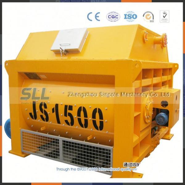 Quality Twin Shaft Electric Concrete Mixer Machine 350L For Bridges Construction for sale