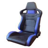 Multi Material Blue And Black Racing Seats , Leather Racing Seats 95*67*57cm Manufactures