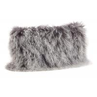 Tibetan Sheepskin Sofa Pillow Covers 10-15cm Long Curly Hair For Bed / Sofa / Chair Manufactures