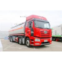 Large Capacity 8x4 FAW Diesel Fuel Storage Tank Truck Euro III Red Color Manufactures