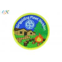 Girl Guiding Division Iron On Embroidered Patches Logo Customized For Clothing Manufactures