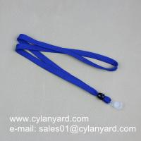 Cheap tubular polyester lanyard with card tag, polyester tube lanyard with card strap, Manufactures