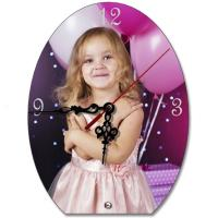 Promotion Gift Antique Sublimation Wall Clock With A Baby Picture 26*19cm Manufactures