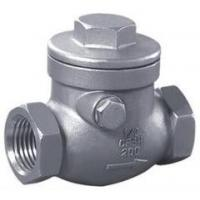 stainless steel screw awing check valve;check valves;NPT;bspt;200WOG;screw end;CF8'CF8M Manufactures