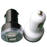 China Dual USB Car Charger for Ipod,Iphone 5V 2A 10w white black color mini car charger on sale