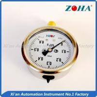 China High Temp Oil Filled Oil Pressure Gauge / Air Pressure Gauge Panel Mount 63mm on sale