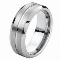 Tungsten Carbide Wedding Band Ring, OEM and ODM Orders Welcomed, 8mm Width, 2 to 3mm Thickness Manufactures