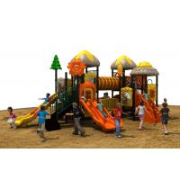 TUV standard imported PVC coated deck kids amusement park outdoor playground equipment with slide Manufactures