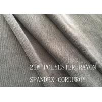 Quality 90%P 8%N 2%SP 21W POLYESTER RAYON SPANDEX CORDUROY FOR COAT for sale