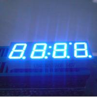 """Ultra Blue 0.39"""" Led Clock Display Common Anode For Home Appliances Manufactures"""