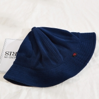 Terry Cloth Fabric 60cm Fisherman Bucket Hat Customization Woven Tag Manufactures
