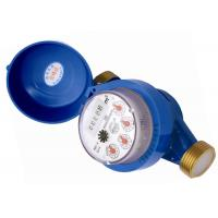 DN15 Cast Iron Single Jet Dry Dial Water Meter , Cold Water Meter Free Rotating Register Manufactures