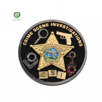 Double Side double plating Crime Scene factory supply Challenge Coins Manufactures