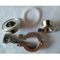 """Quality OEM Stainless Steel Tri Clamp Sanitary Fittings 1.5"""" SS Ferrules And Gasket - Silicon for sale"""
