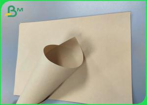 China FDA Approved 80sm 120gsm unbleached Kraft Paper Bamboo Pulp Food Packaging Paper on sale