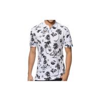 Collar White Short Sleeve Polo Shirts for Mens / Custom Polo Shirts Manufactures