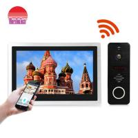 China 10 Inch big touch screen ip video intercom wi-fi video door phone doorbell IP video door bell SIP on sale
