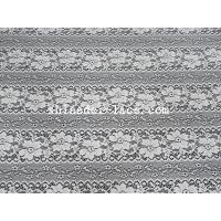 Delicate Flower Striation Spacing Stretch Lace Fabric With Nylon Spandex Material For Dress SYD-0173 Manufactures