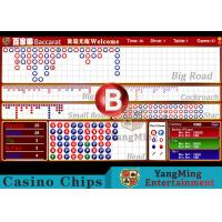 Baccarat Reslut Electronic System / Casino Game Accessorries Manufactures