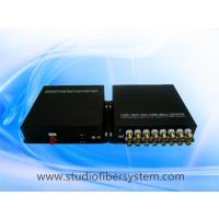Mini 16CH TVI fiber converter with wall mounted aluminum case,compact desigend for CCTV system Manufactures