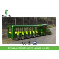 42 Seats Electric Trackless Train , Electric Tourist Train For Outside Recreation Manufactures