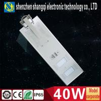 4000 - 4400lm LED Solar Street Lamps / Solar Panel For Outdoor Lighting Manufactures