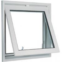 China White 1.6mm profile thicknes powder coated aluminum awning windows for commercial building on sale