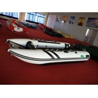 470 Cm Inflatable Catamaran Work Boat Alloy Floor High Speed With Air Bow Manufactures