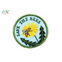 China Personalized Iron On Patches , Flower Embroidery Patches With Paper Coated on sale