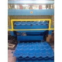 Quality 8000Kgs High Precision Glazed Steel Tile Roll Forming Equipment with PLC Control for sale
