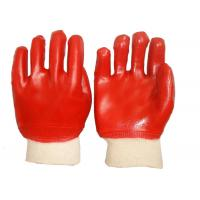Fashion Design PVC Coated Gloves Cotton Interlock Lining High Durability Manufactures