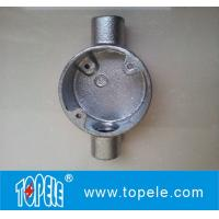 BS4568 Two Way Malleable Iron / Aluminum Circular Electrical Junction Box - Through Way Manufactures
