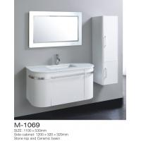 Irregular Vintage Bathroom Vanity Sink Stone Top Ceramic Basin Square LED Mirror Manufactures