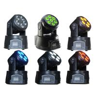 Quality Professional Dj Lighting Equipment , 5*15W RGBWA LED Mini Moving Head Wash Light for sale