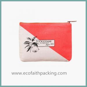 Women Travel Toiletry Cotton Zipper Bag, Cotton Storage Pouch,  Cosmetic Bag Purse Organizer Manufactures