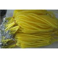 Long retention rope fishing coil tether safety yellow plastic line cord with mtal hooks Manufactures