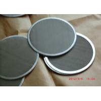China Customized Stainless Steel / Aluminumfilter Wire Mesh Disc With Edging on sale