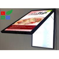 Door Open LED Light Box Sign , Size A2 Lockable Poster Frame For Restaurant Manufactures