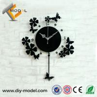 Modern Art Acrylic Wall Clock with Pendulum for Wedding Souvenirs Gift Manufactures