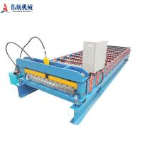 China manufacture full automatic Color steel Metal Roof sheet roll forming machine Manufactures