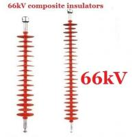Light Weight Composite Polymer Insulator , 66kv Silicon Rubber Substation Insulators Manufactures