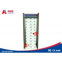 Court Door Frame Metal Detector 45 Zones LCD Screen Infrared Remote Controller Manufactures
