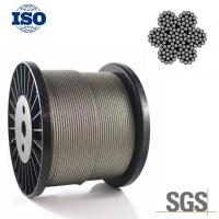 China Flexible 304 4mm Stainless Steel Wire Rope 6x19S IWRC Bright Surface For Engineering on sale
