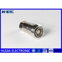 China RF Straight Female Din Connector , TFE Insulators 50ohm 1/2 Coaxial Cable Adapter on sale
