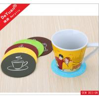 Round Plastic Personalized Photo Coasters For Hotel High Glossy Manufactures
