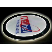 Crystal Round Picture Frame LED Illuminated Light Box For Display Portriat Image Manufactures